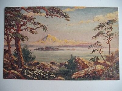 Mount Baker From Oak Bay Victoria British Columbia Canada Private Postcard