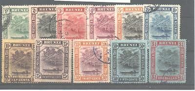 Brunei Sg34/46 1908-22 Set Of 11 To $1 Used
