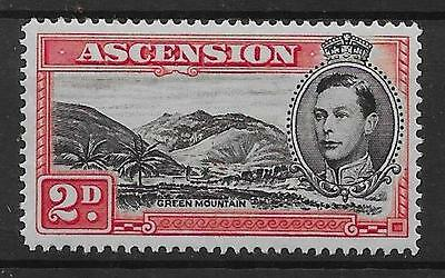 ASCENSION SG41ca 1949 2d BLACK & SCARLET MOUNTAINEER FLAW MTD MINT