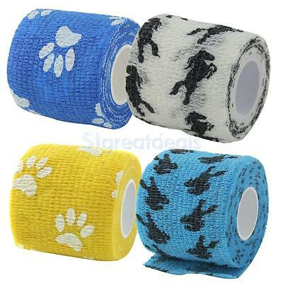 Cat Dog Pet Adhesive Bandage Tape First Aid Medical Care Wrap Non-woven
