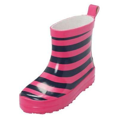 Playshoes Rubber boots Stripes navy-pink, Size can be selected
