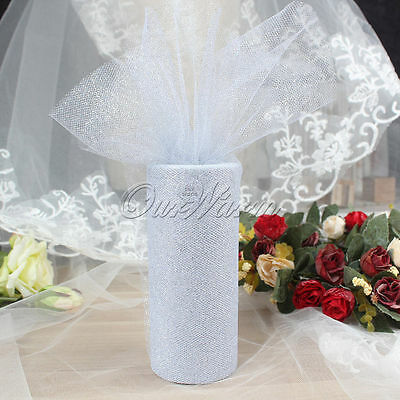 Shabby Chic Lace Tulle Trim Net Roll Runner for Chair Ballon Ties Wedding Ivory