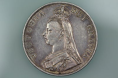 GB VICTORIA DOUBLE FLORIN COIN 1890 S3923 Almost EXTREMELY FINE
