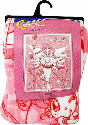 Sailor Moon & Chibi Chibi Moon Throw Blanket Official New GE Animation