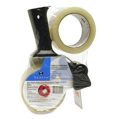 Sparco Sparco Two Roll Packaging Tape with Pistol Grip Dispenser SPR64012