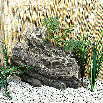Charles Bentley Natural Woodland Water Feature Self Contained Outdoor Garden