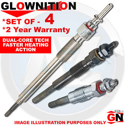G683 For Fiat Punto Grande 1.9 D Multijet Glownition Glow Plugs X 4