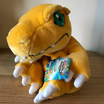 NEW Tagged Agumon Plush Soft Toy Pyjama Case 2000 Digimon Monsters Rare 12""