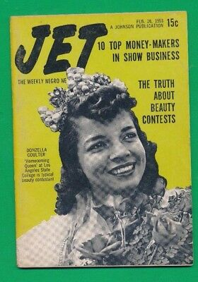 2/26/1953 JET MAGAZINE Truth Beauty Contests Top 10 Money Pearl Bailey EXC COND