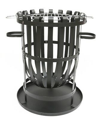 Pagoda Fire Basket Pit With Grill BBQ Outdoor Garden