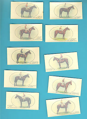 Derby And Grand National Winners.transfers.10 Cards Issued By Players In 1933