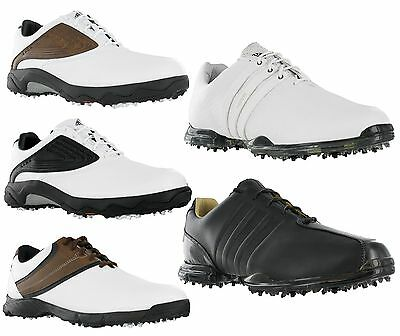 Adidas Golf Leather Lace Up Spike Mens Shoes Collection UK 8.5