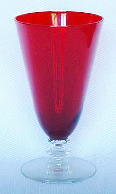 """Lovely Morgantown """"radiant"""" Red Iced Tea Glass - 9 Available"""