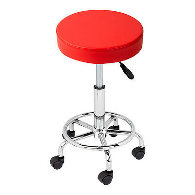Red Hydraulic Swivel Salon Stool Chair Doctor Beauty Medical Dentist Facial Spa