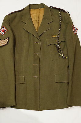Canadian Womens Army Corps CWAC Sergeant Service Dress Jacket No Buttons