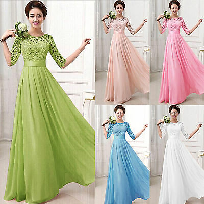 Sexy Women Long Evening Party Ball Prom Gown Formal Bridesmaid Cocktail Dress