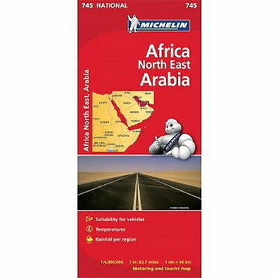 Africa North East Arabia Michelin National Map 745 Motoring and Tourist