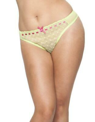 Curvy Kate Portia Lime/Rose String Thong Brief New Sizes 8 10 12 - CK4002