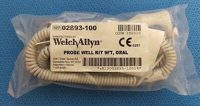 Welch Allyn SureTemp Plus 690/692 Temperature Probe & Well Assembly 9' 02893-100