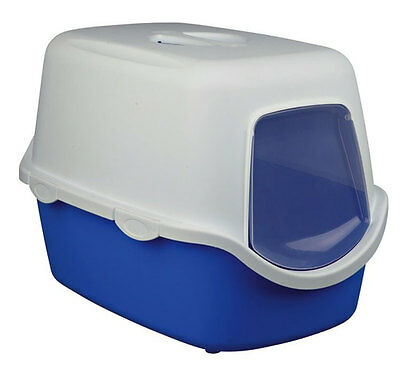 Trixie Vico Litter Tray With Dome 40x40x56cm Blue/White