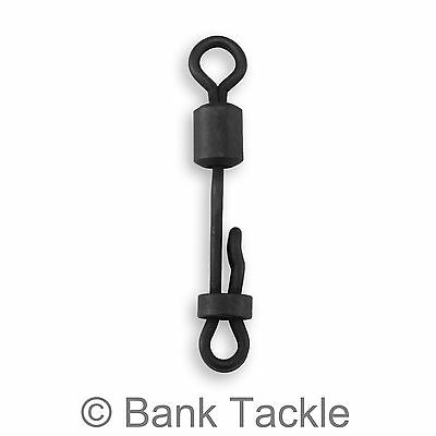 Clam Lock Size 8 Quick Change Swivels Black Carp Fishing Terminal Rig Tackle SK