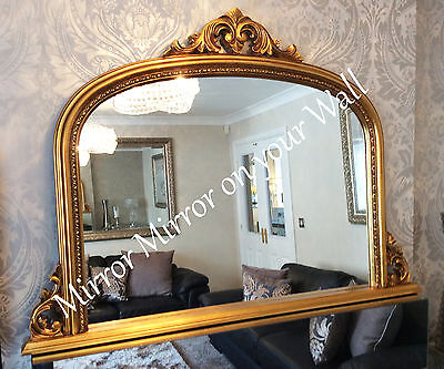 Large arch top over mantle mirror Choice of frame colour Fast despatch Save ££'s