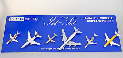 "Schabak Aircraft Display ""Jet Set"" 1:600 - From Toy Shop 1970S"