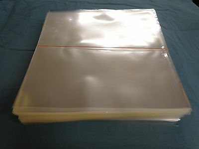 100 CRYSTAL CLEAR PLASTIC LP SLEEVES 322 x 322 x 0,10 mm