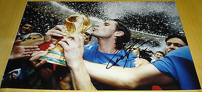 Vincenzo Iaquinta Personally Hand Signed Autograph 12X8 Photo Italy Soccer