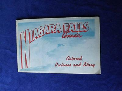 Niagara Falls Canada Colored Pictures And Story Booklet Vintage 1948 Travel