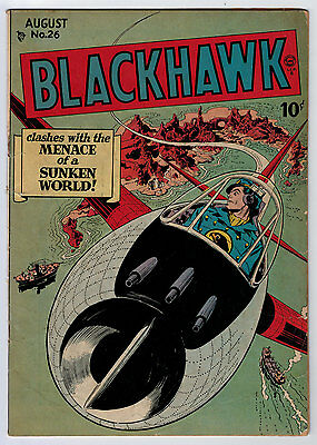 Blackhawk #26 2.0 Crandall Art Cream/tan Pages Golden Age