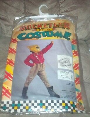 1991 Ben Cooper NM in Package Kids Size Large 12-14 Deluxe Rocketeer Costume
