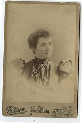 Antique Cabinet Photo Portrait Della Fox Boston