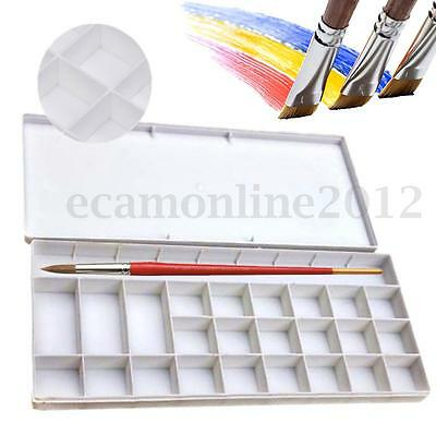 White 25 Alternatives Paint Tray Artist Oil Watercolor Plastic Palette Supply