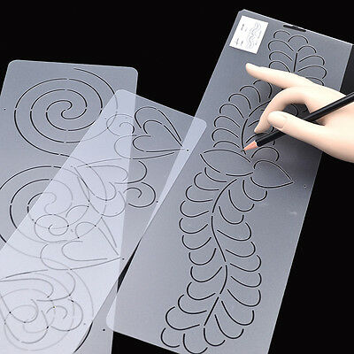 1Pc Plastic Quilting Stencil Painting Craft Stencil Template Stitch Sew Clear