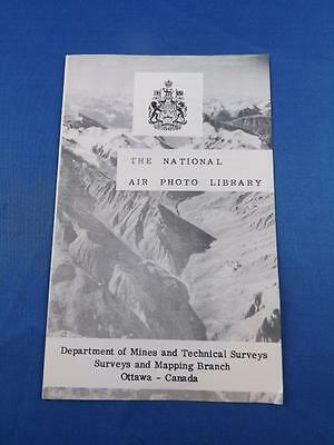 Information Brochure National Air Photo Library Department Mines Canada 1958