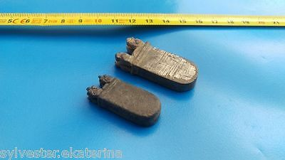 Viking Medieval  Silverd Strap- end/ Belt Ends