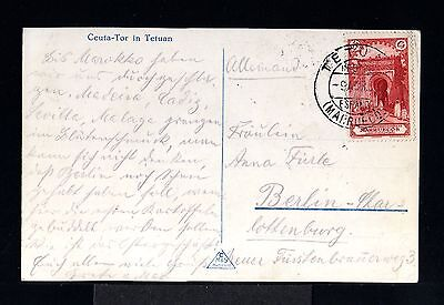 9800-SPANISH MOROCCO-OLD POSTCARD TETUAN to BERLIN(germany)1931.Marruecos.MAROC.