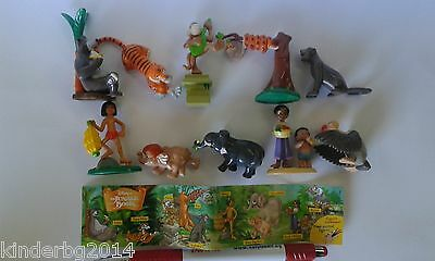 Complete 10 figurines toys set JUNGLE BOOK Rubezahl & Koch caketopper