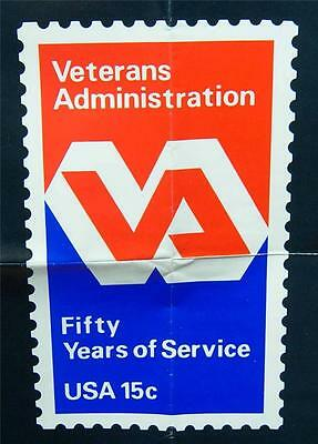 U.s. Post Office Poster #431 Veterans Administration 15 Cent Stamp 1980 Vintage