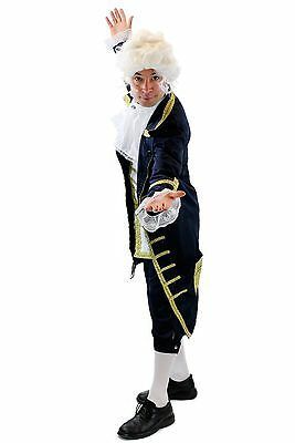 Blauer Baron: High Quality Costume Mens Baroque Mozart Aristocrat Hof Servant