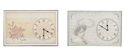 Clayre und Eef Wall Clock Country Home Shabby Chic nostaglisch La many Rose