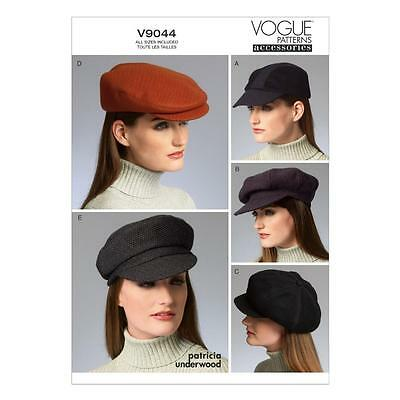 Vogue Craft Sewing Pattern Accessories Five Hats X-Small - Large  V9044