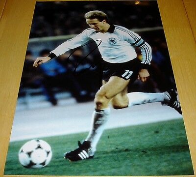 Karl Heinz Rummenigge Personally Hand Signed Autograph 12X8 Photo Germany Soccer