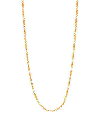 """14K Solid Yellow Gold Cable Link Chain Necklace 0.5mm 16"""",18"""", 20"""""""