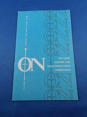 Ontario Northland Transportation Commission Information Booklet Train Truck Boat