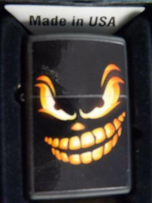 Zippo Lighter Scary Jacko'lantern Evil Grin Halloween Sealed New In Box