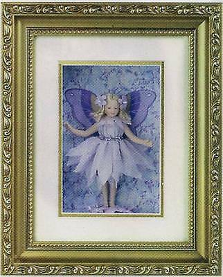 Lavender Fairy in Gold Shadowbox