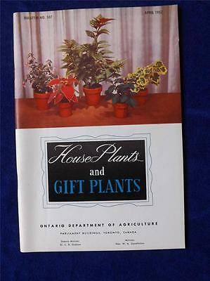 Ontario Department Of Agriculture House Plants And Gift Plants Booklet 1957