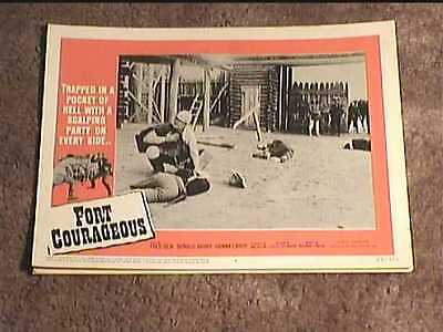 Fort Courageous 1965 Lobby Card #4 Western